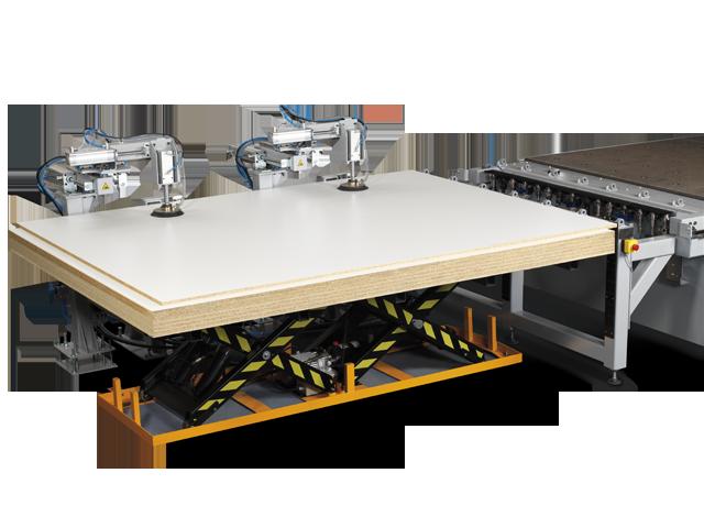 Panel lifting table