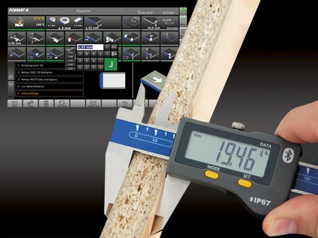 edgeControl: Edge and workpiece measurement with Bluetooth