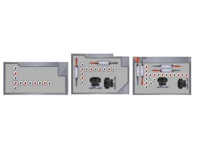 Individual drill head configuration