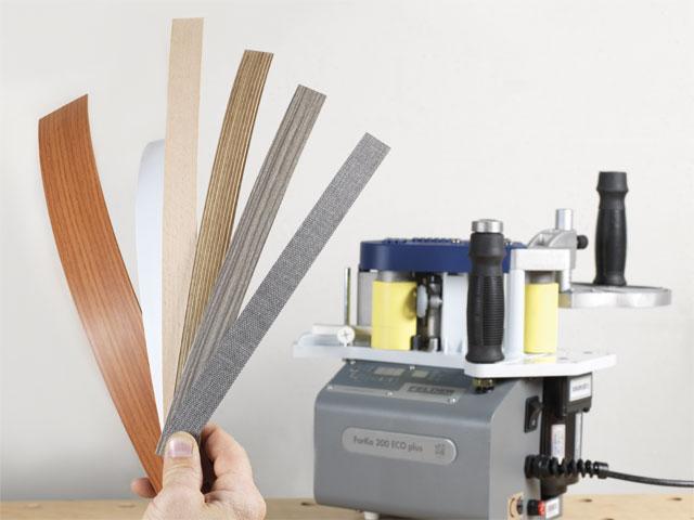 Vhodné pro hrany z ABS, PVS a dřeva