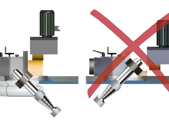 Felder-Frässpindelschwenkung nach hinten: Ihr großer Bedienvorteil beim Bearbeiten jedes Werkstückes!