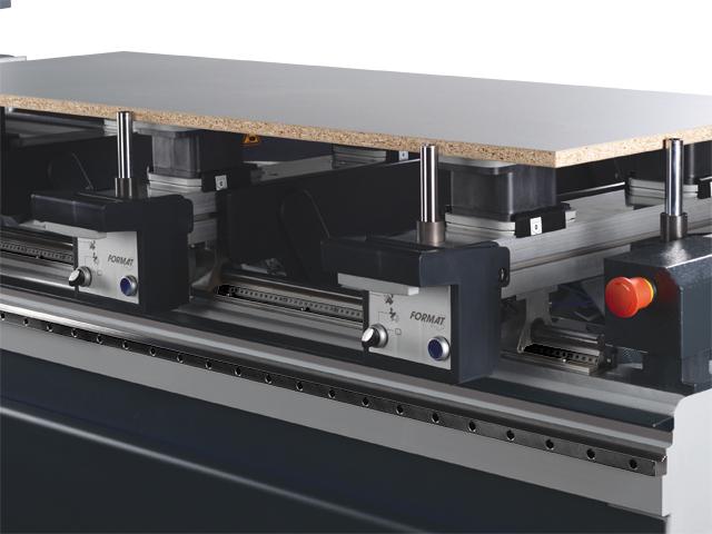 """Werkstückanschlagzylinder am """"Doppel-Nullpunkt"""" (zweite Anschlagreihe)"""