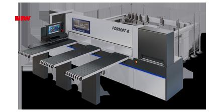 FORMAT-4 kappa automatic 140 - Пильные центры с прижимной балкой| Горизонтальный форматно-раскроечный центр