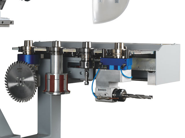 4 position linear tool changermoving in the X-axis direction