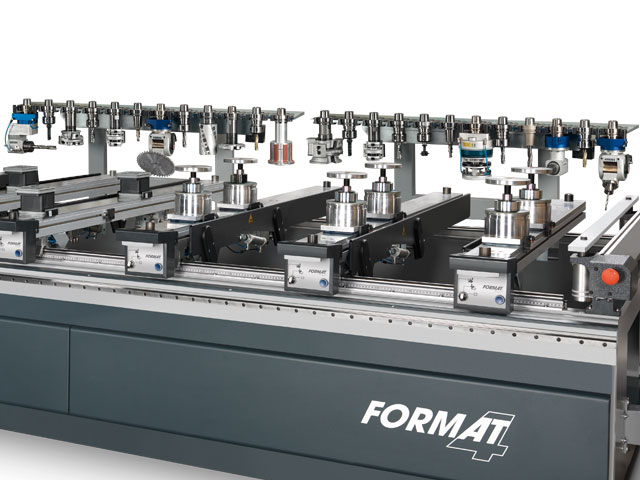 12 position linear tool changer mounted to the machine chassis