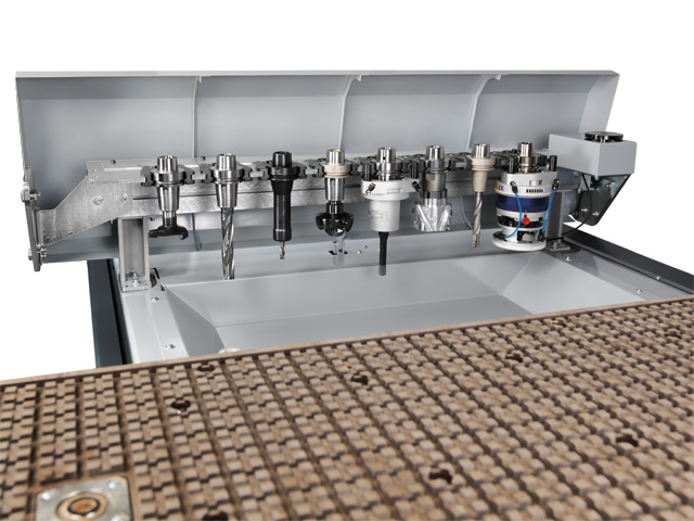 10 position linear tool changer - high flexibility and quick changeover times